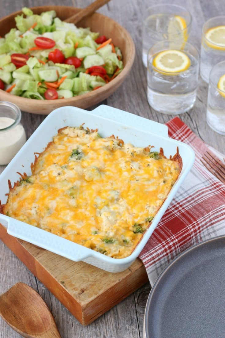 Low Carb Chicken Casserole - Easy Dinner