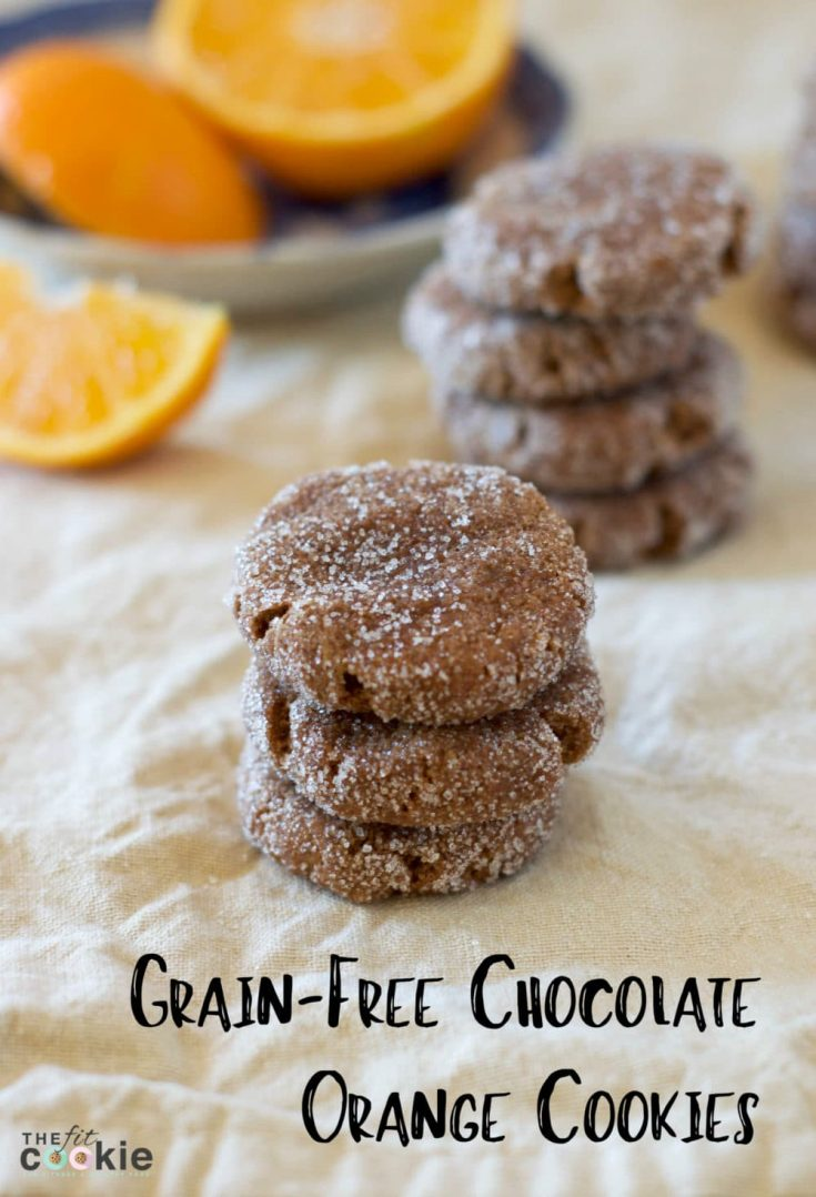 Grain Free Chocolate Orange Cookies (Vegan)