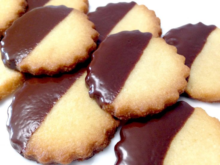 Chocolate Dipped Shortbread Cookies - Keto, Low Carb & Gluten Free