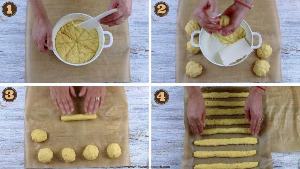 shaping Keto Breadsticks