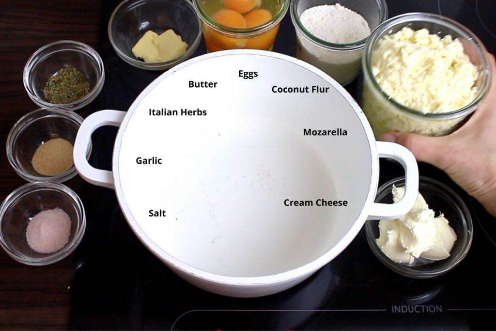 ingredients for keto Breadsticks