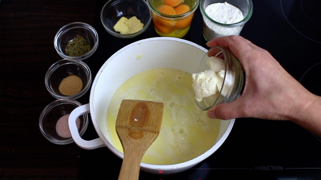 adding creamcheese into fathead dough