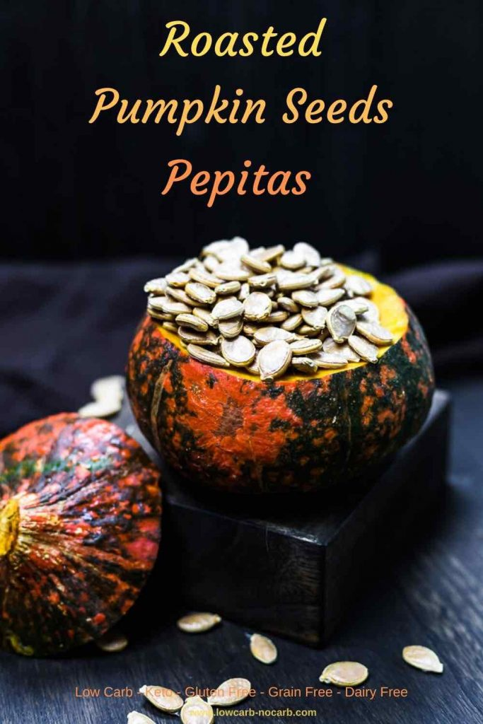 Roasted Pumpkin Seeds - Pepitas in a whole Pumpkin