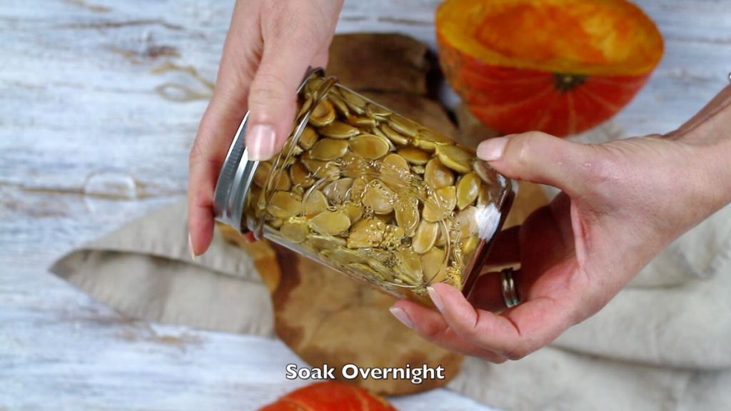 Soaking Pumpkin Seeds before roasting