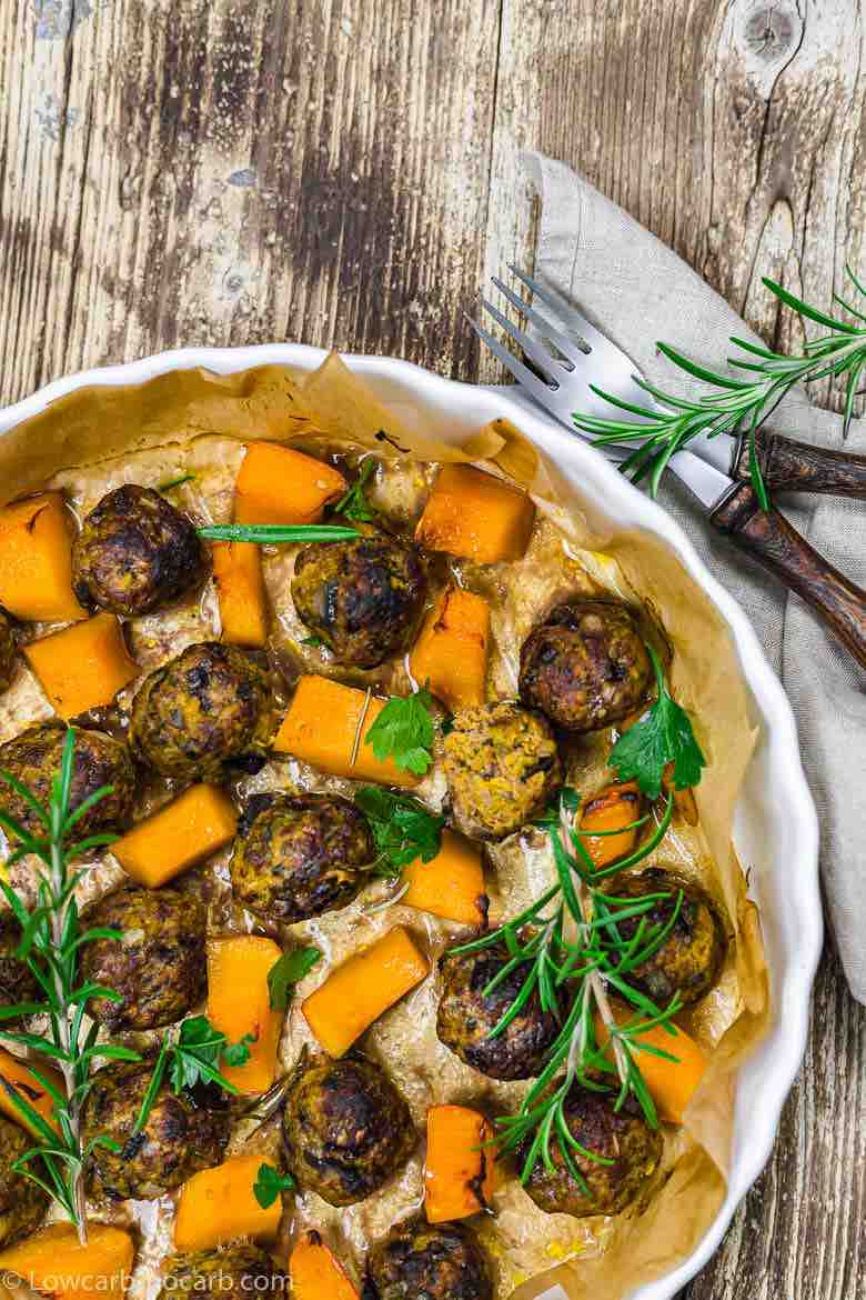 Keto Meatballs with Pumpkins
