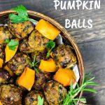 Low Carb pumpkin minced Meat Balls