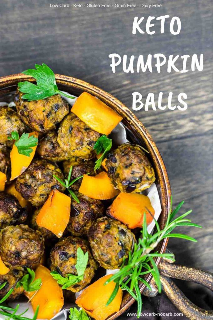 Low Carb pumpkin minced Meat Balls