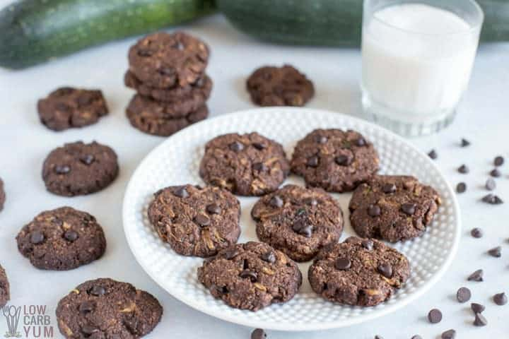 Healthy Chocolate Zucchini Cookies (Gluten-Free, Paleo)