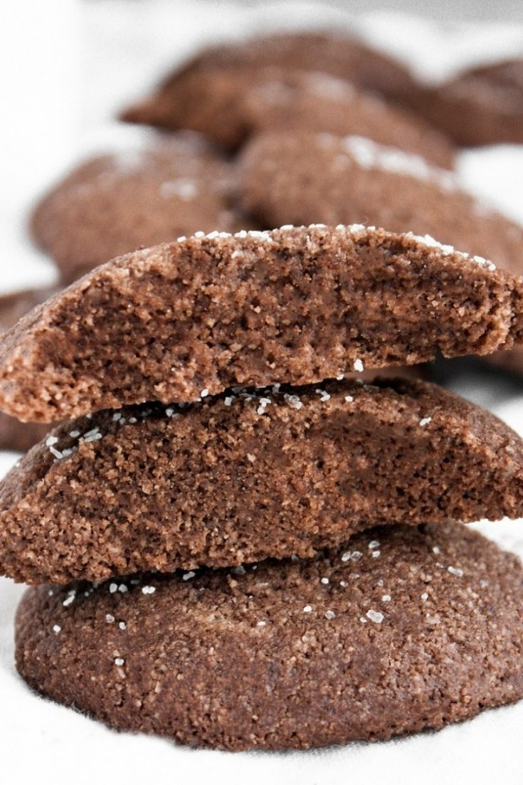Keto Chocolate Sea Salt Cookies