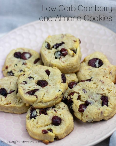 Low Carb Cranberry Almond Cookies