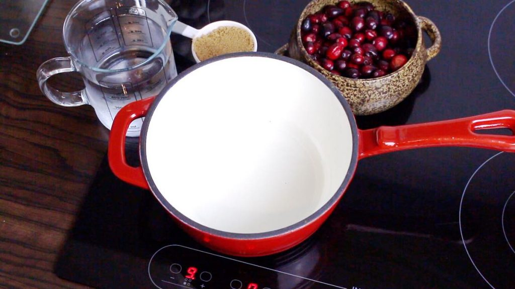 Low Carb Cranberry Sauce in the making