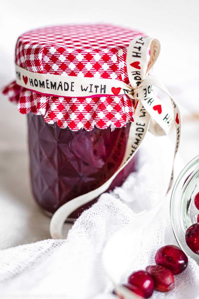 Keto Cranberry Sauce made a s a gift
