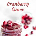Brown Sugar Cranberry Sauce in a jar