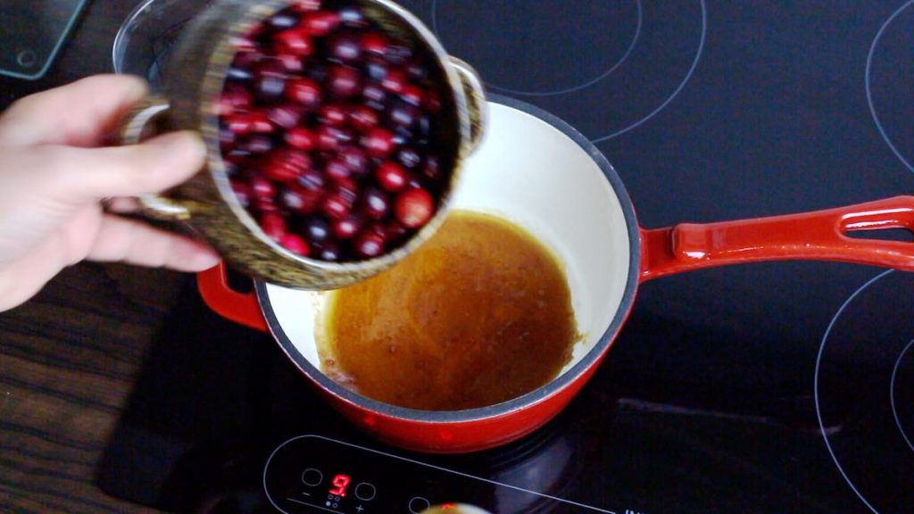 healthy cranberries added ti a brown sugar