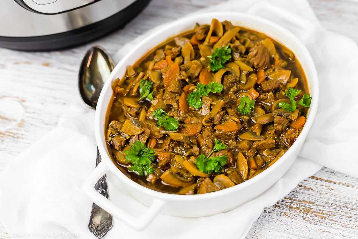 ready made goulash in a dish