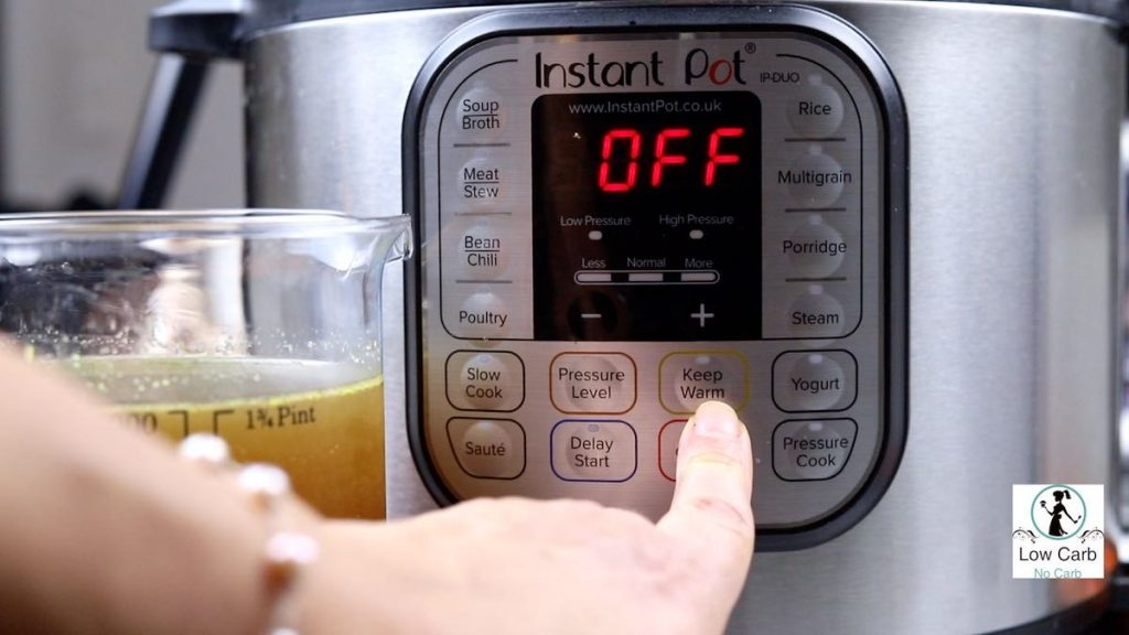 Switching the Instant Pot off