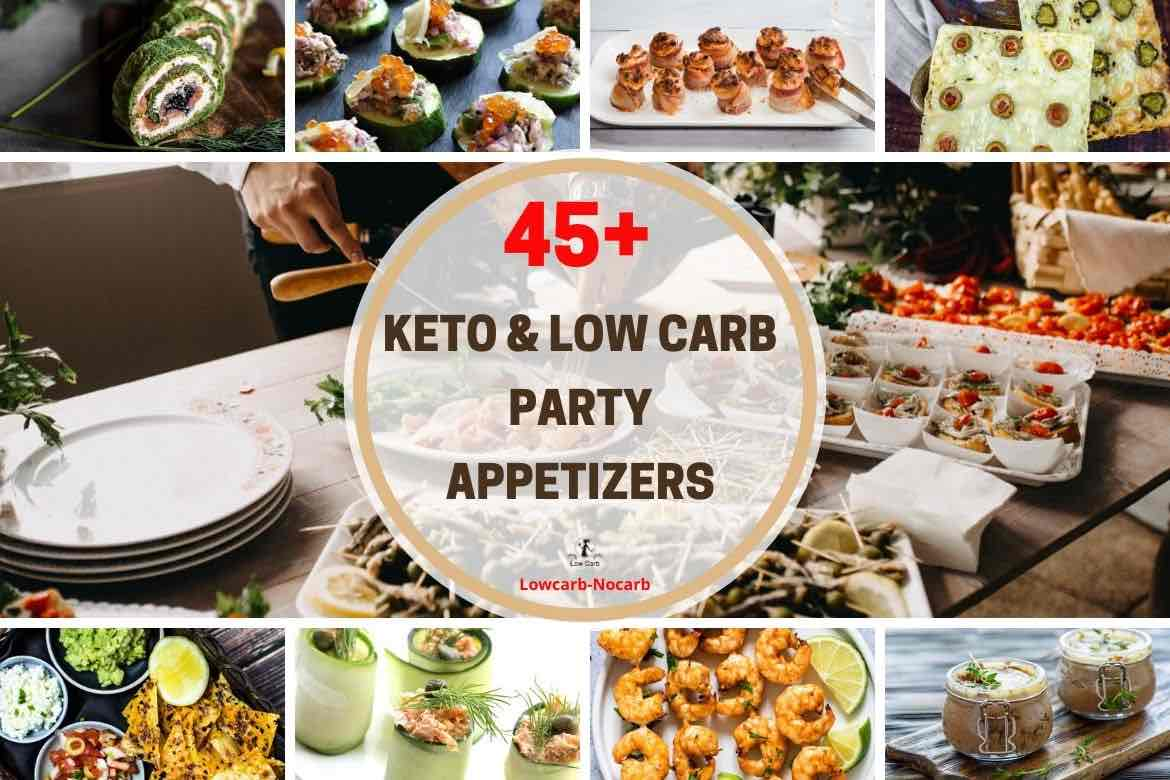 Keto Friendly Appetizers for a Crowd with various images