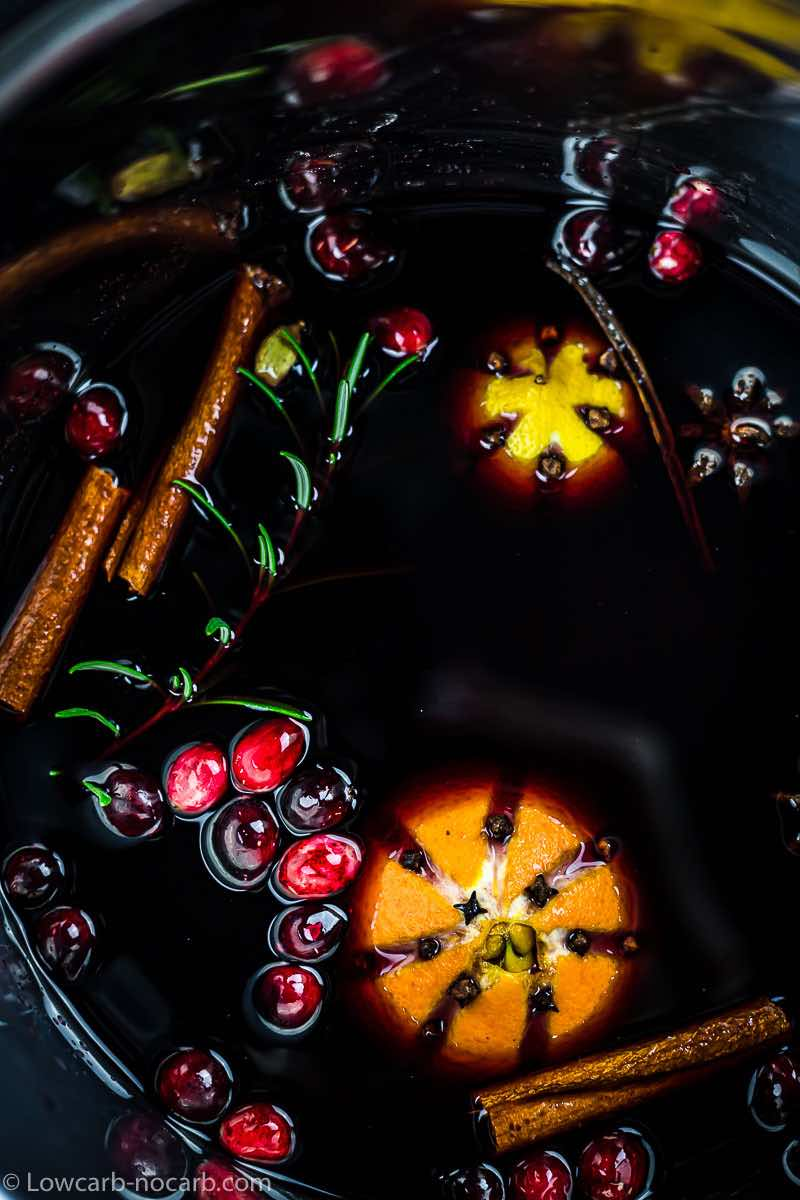 Keto Cranberry Mulled Wine