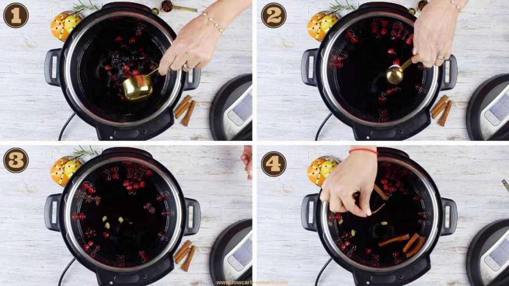 Preparing mulled wine in an Instant Pot