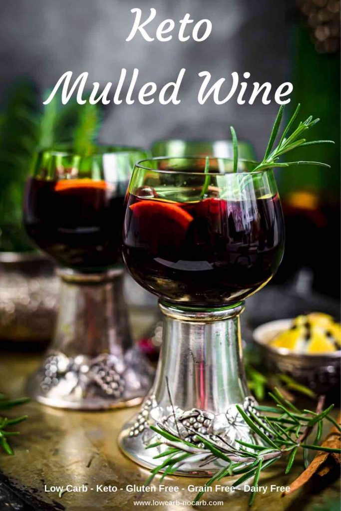 glass of keto mulled wine made in an instant pot