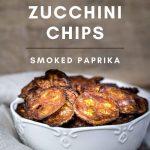 Keto zucchini Chips in a white bowl