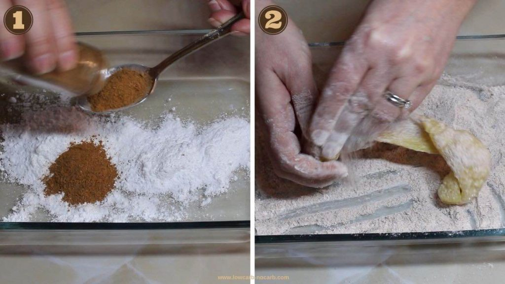 Pork Skins covering with cinnamon and sugar substitute