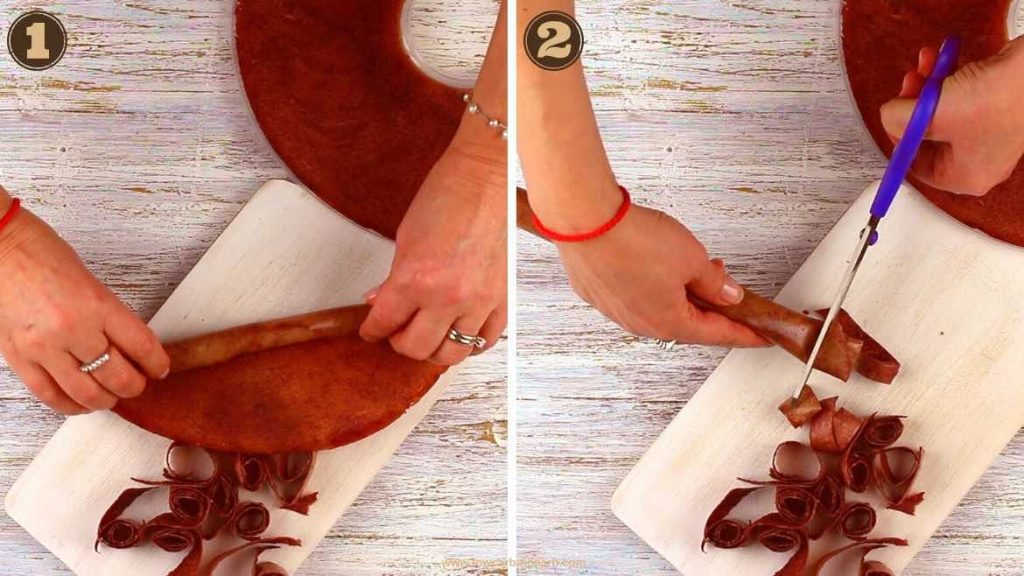 Fruit Leather dehydrated and cut into shapes