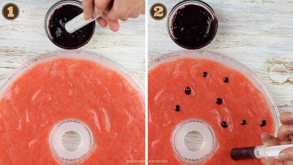 1 Ingredient Fruit Leather Recipe decorating with wild Blueberries mouse