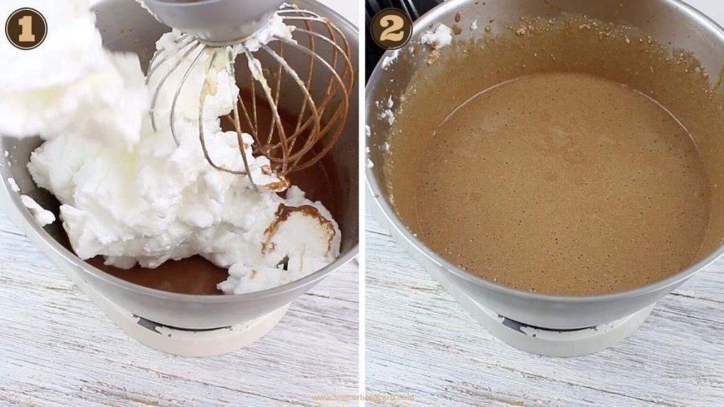 Keto Fudgy Brownies adding eggwhites