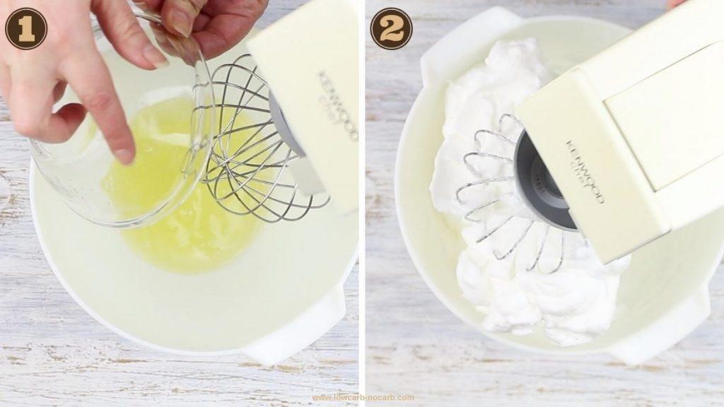 Sheet Pan Keto Dessert getting egg whites stiff