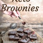 Spicy Keto Brownies dripping chocolate on