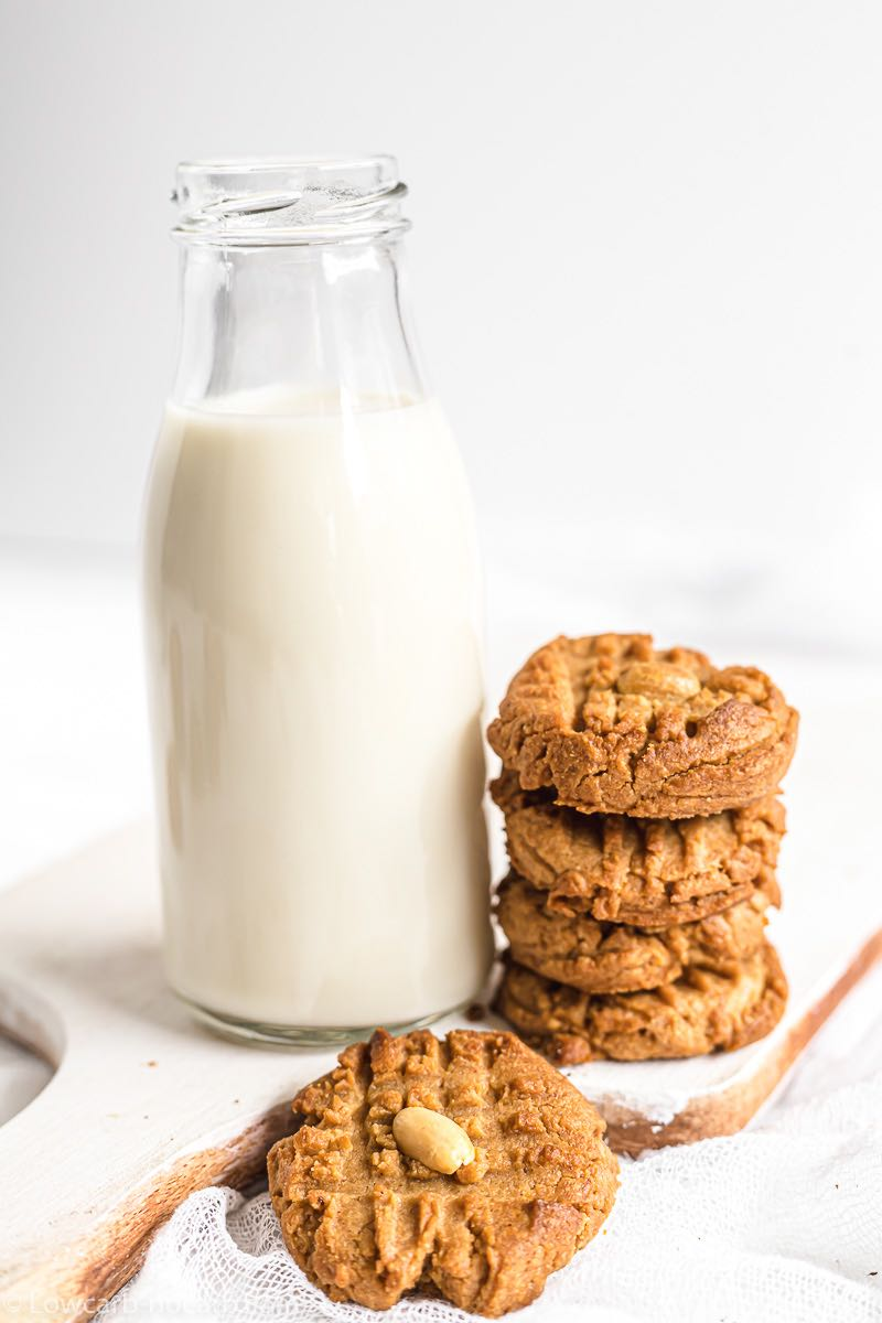 Keto Cookies read to enjoy for Breakfast with milk