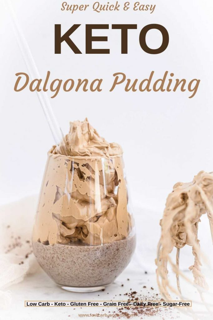 Dalgona Foam inside the Glass of pudding