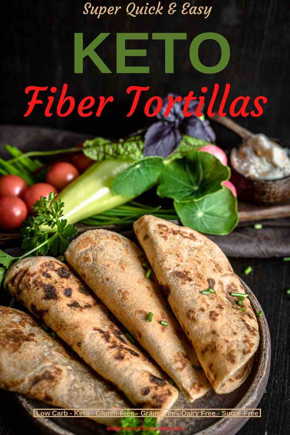 Rustic looking Tortilla filled with Fiber