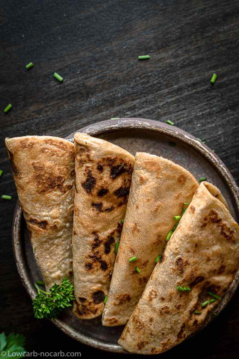 Flat Bread without flour on a plate