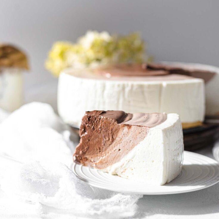 Keto No Bake Cheesecake 4 layers
