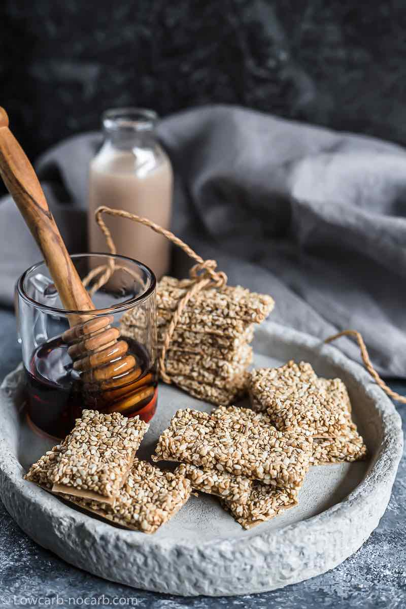 Sugar-Free Sesame Brittle Bars