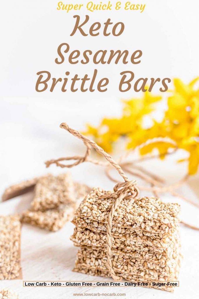 "Keto ""Honey"" Sesame Brittle Bars Recipe"