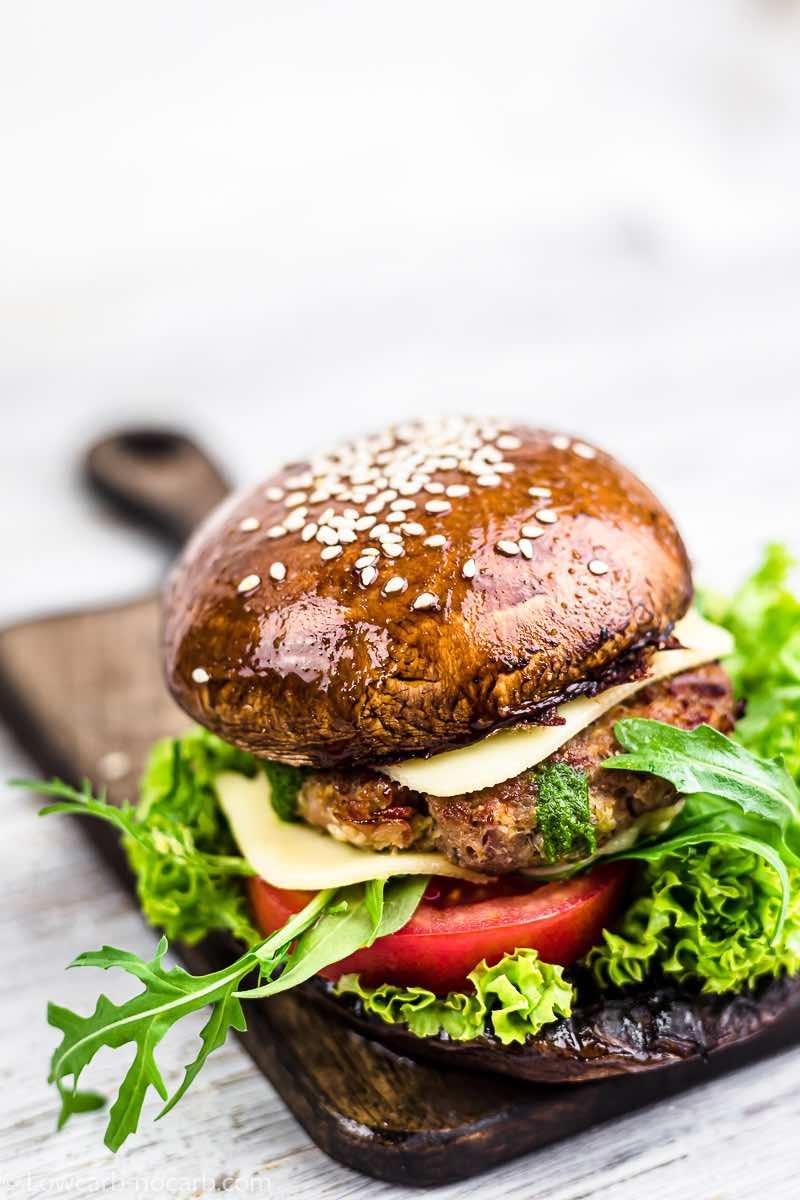 Ground Beef Keto Burger