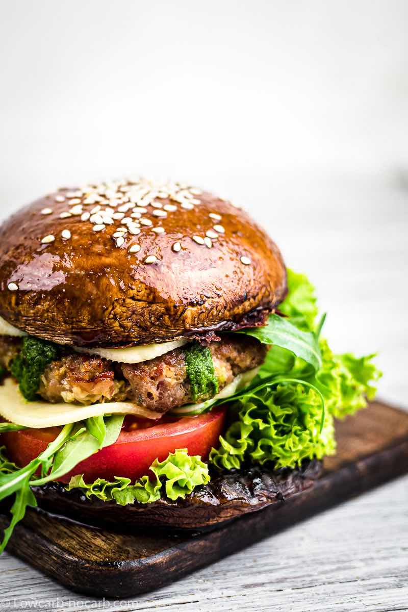 Mushroom Keto Burgers