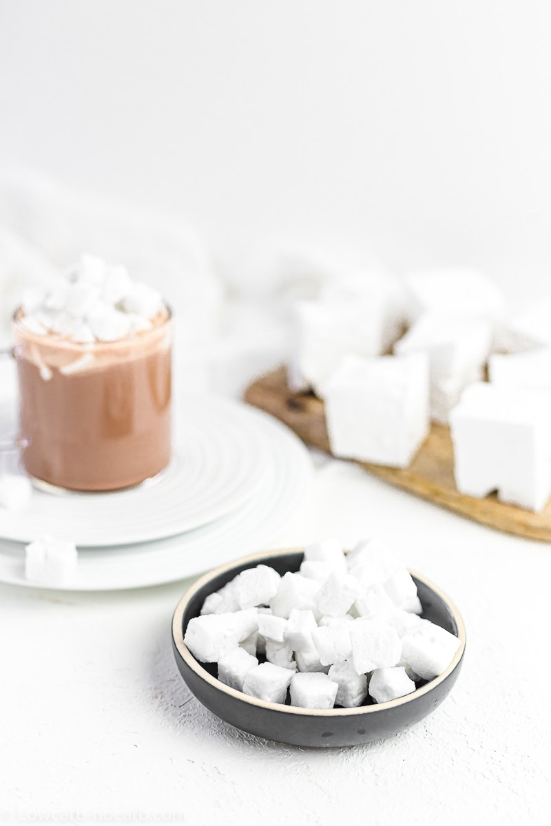 2 Ingredients Sugar Free Marshmallows for hot chocolate