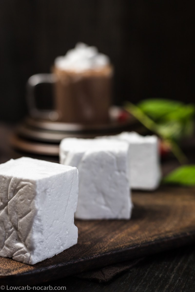 How To make Sugar Free Marshmallows on a wooden board