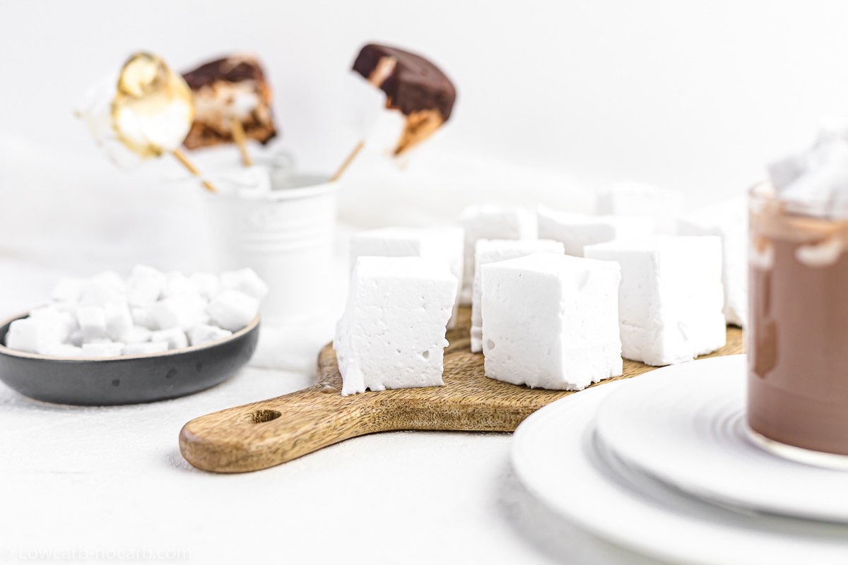 Super Fluffy Keto Free Marshmallows in a different shapes