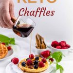 Chaffles - cheese and eggs waffles
