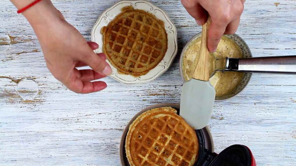 Chaffle Recipe with Almond Flour on a dash mini maker