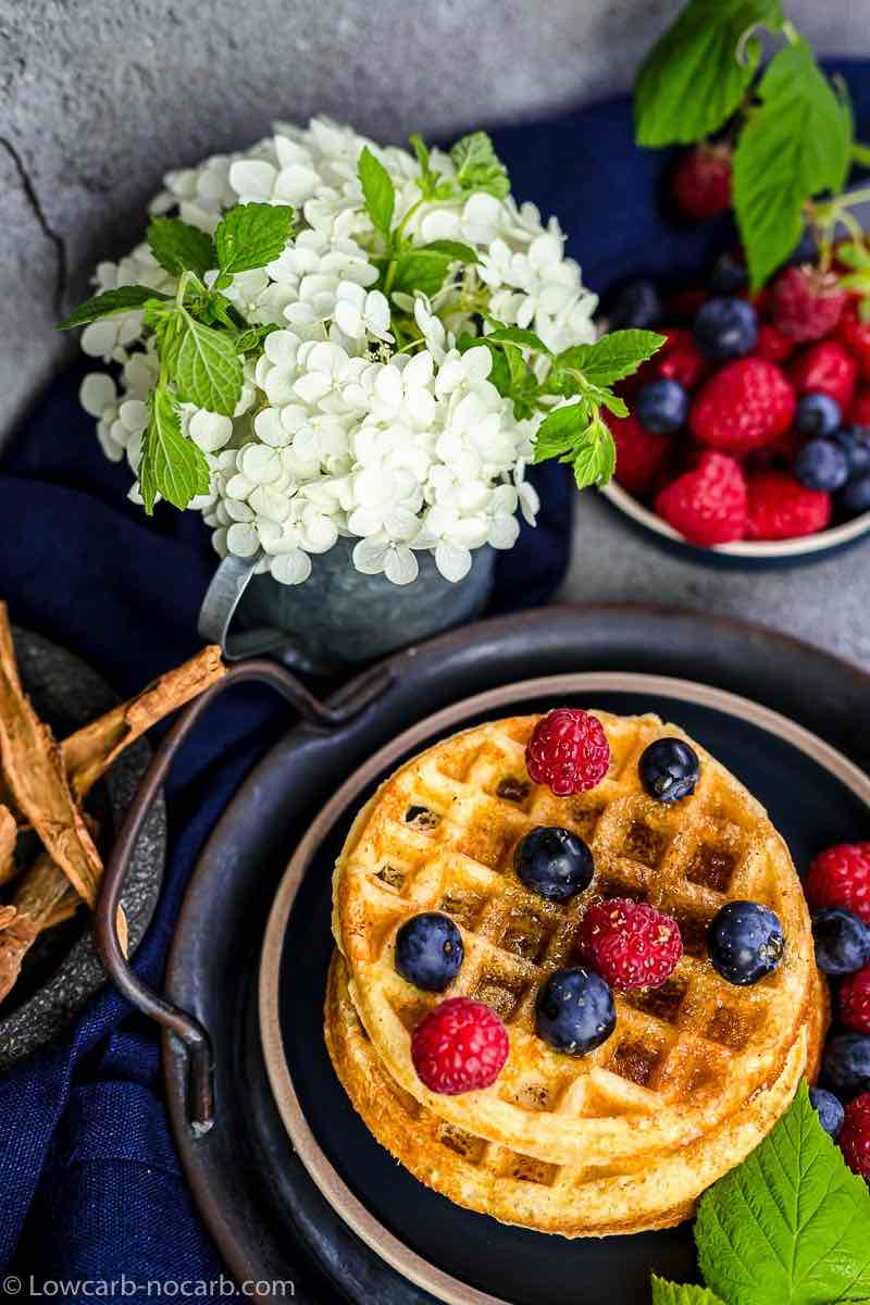 Keto Chaffle Recipe with berries