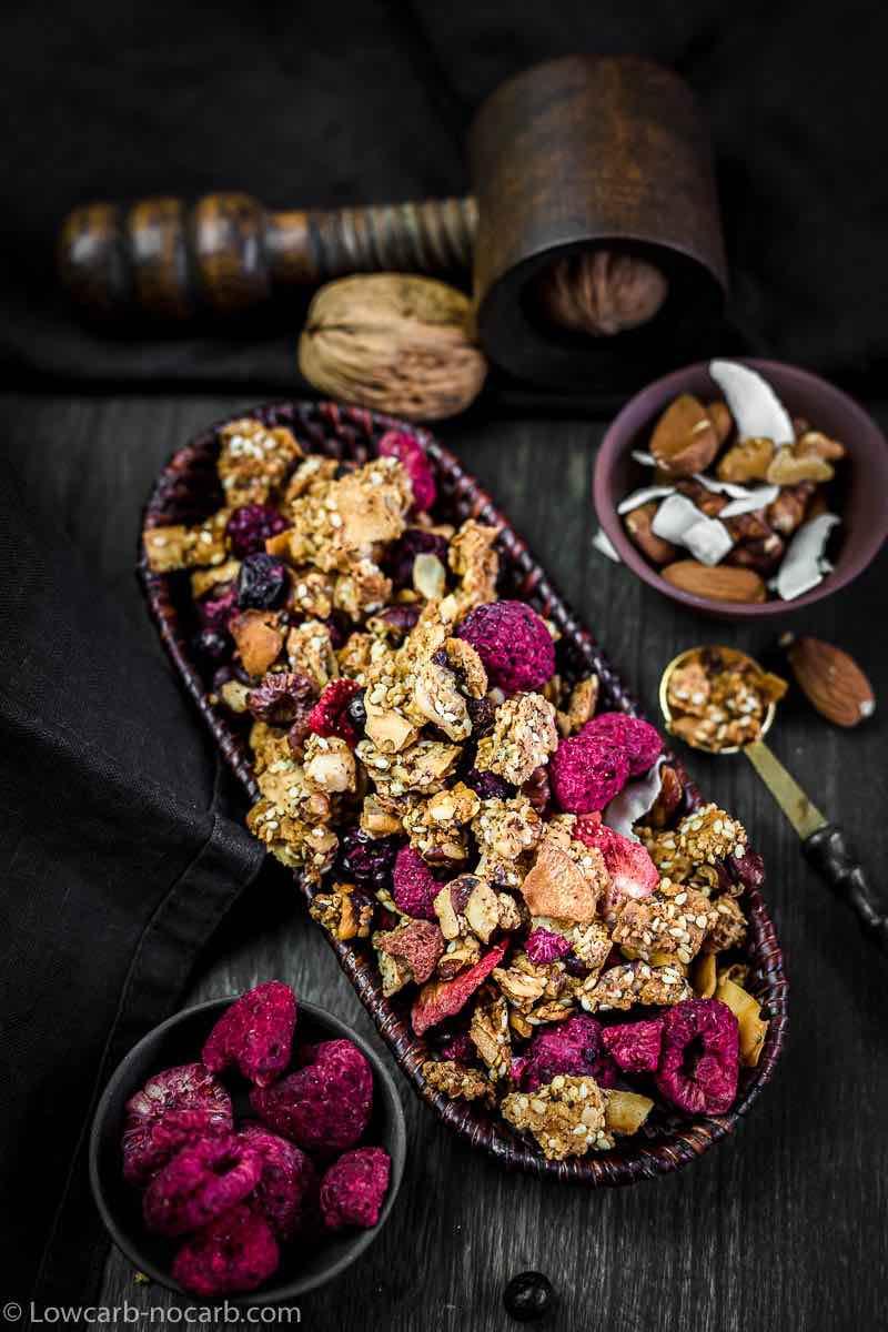 Nutrient Packed Keto Breakfast with dry berries