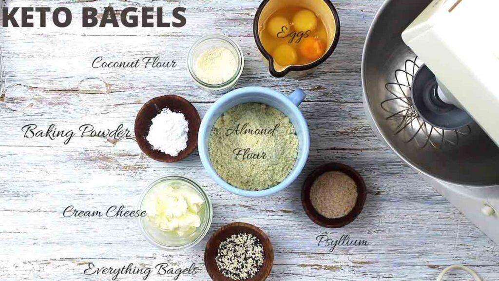 6 Ingredients Keto Bagels