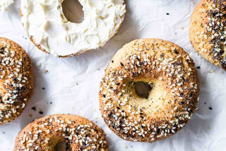 Easy Everything Keto Bagels Recipe with Almond and Coconut Flour