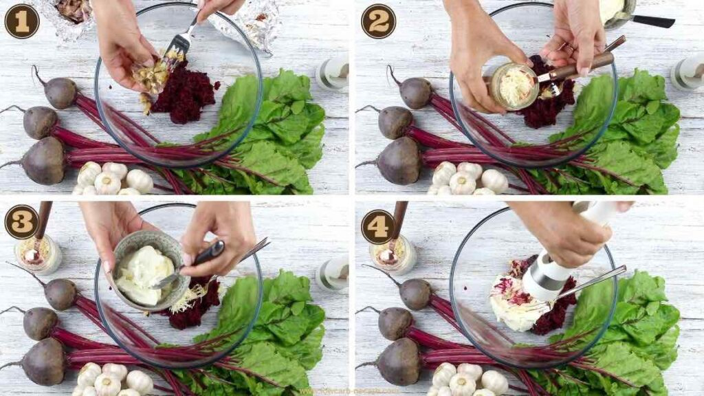 4 Ingredients only Low Carb Beet Spread